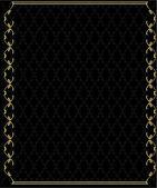 Elegant gold frame 2 — Stock Vector