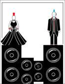 Punkare med högtalare 4 — Stockvektor