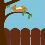 Outdoor bird scene — Stock Vector #2144609