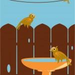 Outdoor bird scene — Stock Vector #2144641