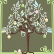 Abstract Easter egg tree — Stock Vector
