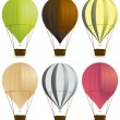hete lucht ballonnen 2 — Stockvector