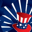 Royalty-Free Stock Vector Image: Uncle Sam hat background