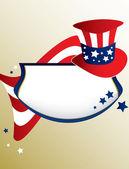 American patriotic banner — Stock Vector
