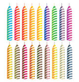 Striped candles — Stock Vector