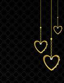 Fond coeur or à motifs 1 — Vecteur