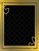 Gouden hart patroon achtergrond 7 — Stockvector