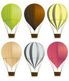 Varmluftsballonger 2 — Stockvektor