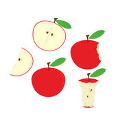Red apples isolated — Stock Vector