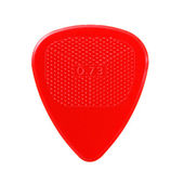 Red ribbed guitar plectrum — Stock Photo