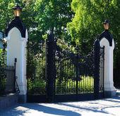 Closed Old Gates — Stock Photo