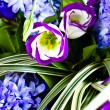 Blue fuzzy (hyacinthus orientalis) bouqu — Stock Photo