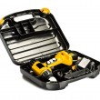 Stock Photo: Toolbox with yellow drill set