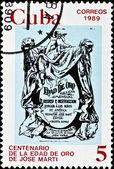 Vintage cuba postage stamp — Stock Photo