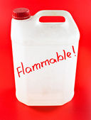 Flammable canister — Stock Photo