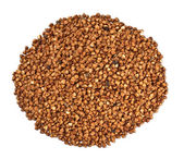 Buckwheat handful — Stock Photo