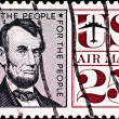 Postage stamp with USA president Lincoln — Stock Photo #1419514