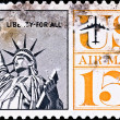 Postage stamp shows US Statue of Liberty — Stock Photo