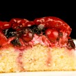Stock Photo: Cherry cake on white dish