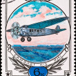 Postage stamp show airplane k-5 - Stock Photo