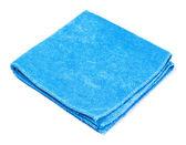 Blue microfiber duster — Stock Photo