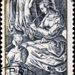 Post stamp engraving of Adriaen Collaer - Stock Photo