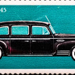 Postage stamp shows vintage car ZIS-110 — Stock Photo #1632750