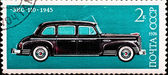Postage stamp shows vintage car ZIS-110 — Stock Photo