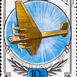 Postage stamp show plane ANT-6 - Stock Photo