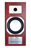Brown speaker system front — Stock Photo