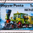Royalty-Free Stock Photo: Postage stamp shows locomotive Pioneer