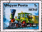 Postage stamp shows locomotive Pioneer — Stock Photo