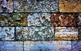 Colored brick wall — Stock Photo