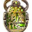 Scarab with gems — Stock Photo