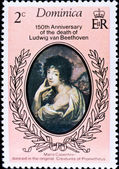 Postage stamp shows Maria Casentini — Stock Photo