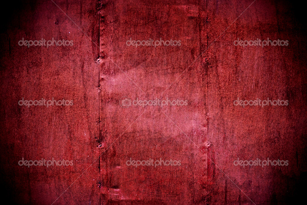 Metal Wall Texture Metal Painted Crimson Wall