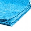 Blue microfiber duster closeup - Stock Photo