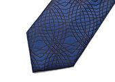 Blue necktie part — Stock Photo