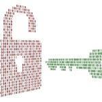 The lock and key — Stock Photo