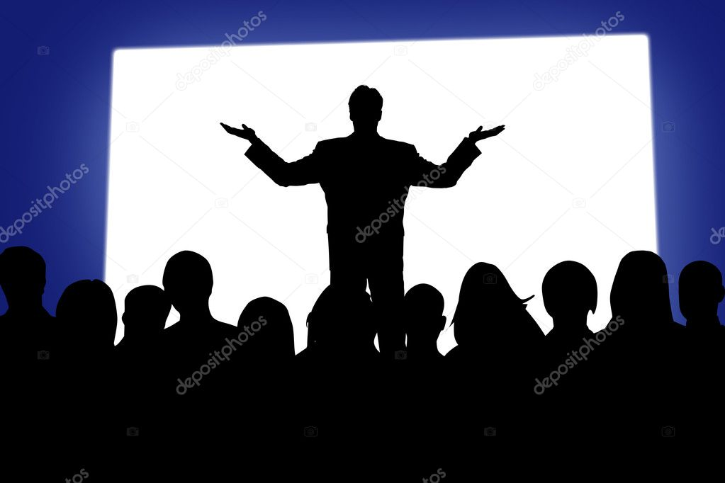 Performance before public with the white screen  Stock Photo #1915262