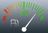 Fuel gauge — Stock Photo