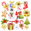 Royalty-Free Stock Vectorafbeeldingen: Big christmas set