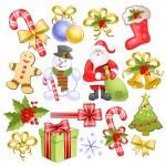 Big christmas set — Stock Vector