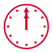 Clock icon — Stock Photo #1169190