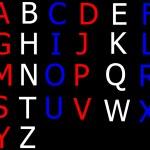English alphabet — Stock Photo
