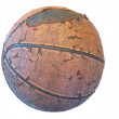 Worn basketball — Stock Photo