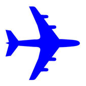 Jet plane icon — Stock Photo
