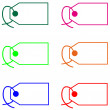 Colored blank tags — Stockfoto