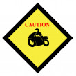 Motorcycle sign - Stock Photo