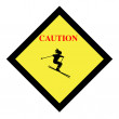 Skiing sign - Stock Photo